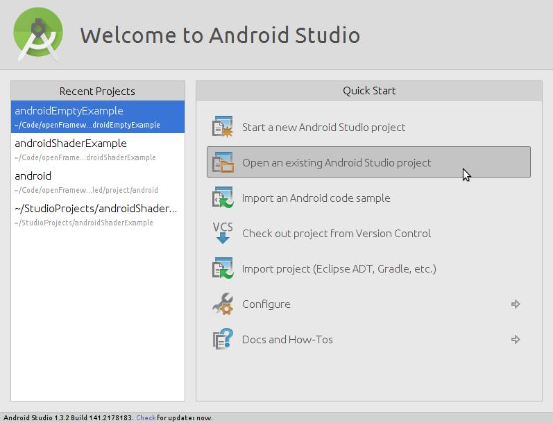 android studio | openFrameworks