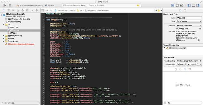 xcode | openFrameworks