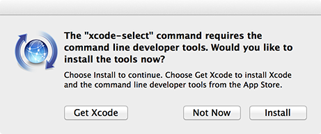 install dialog for the command line tools